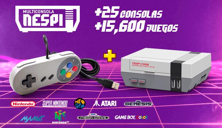 Consola multijuegos con juegos de más de 12 consolas retro